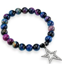 katie's cottage barn galaxy tiger's eye gemstone bracelet