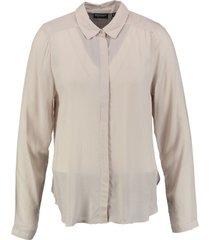 broadway soepele blouse beigegrijs
