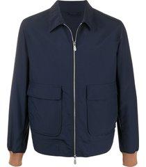 eleventy contrast cuffs jacket - blue