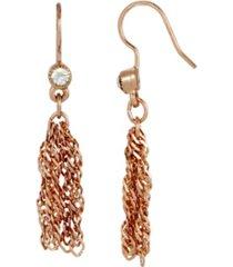 2028 women's rose gold tone tassel earring