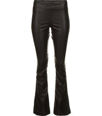 faux leather flared broek afke  zwart