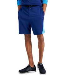 ax armani exchange men's simply blue pieced colorblocked shorts, created for macy's