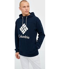 columbia columbia lodge french terry hoodie tröjor navy