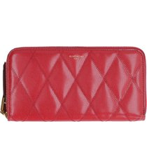 givenchy gv3 leather zip around wallet