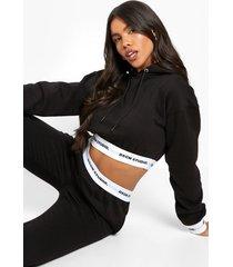 gestreepte hoodie, black