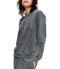 women's topshop acid wash sweatshirt