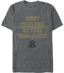 star wars men's classic best father in the galaxy short sleeve t-shirt