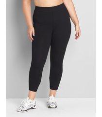 lane bryant women's livi high-rise signature stretch capri legging 10/12 black