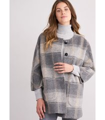 oversized jas met ruiten
