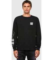 polera t just ls n61 t shirt 9xx negro diesel
