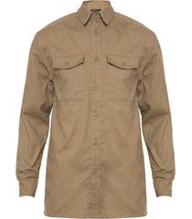 camisa gabardina beige varón rossignol