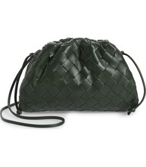 bottega veneta small the pouch leather clutch - green