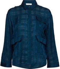 ilona shirt 10866 overhemd met lange mouwen blauw samsøe & samsøe