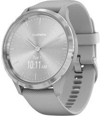 garmin vivomove 3 style gray silicone strap hybrid touchscreen smart watch 42mm