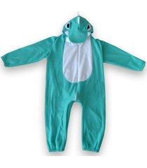 macacã£o pijama dinossauro verde e branco - verde - dafiti