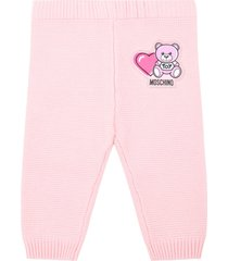 moschino pink trousers for babygirl with teddy bear