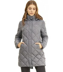 chaqueta long line steam-pro hoody gris medio lippi