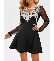 lace insert cut out prom dress