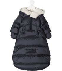 il gufo goose down mitten-sleeve coat - blue