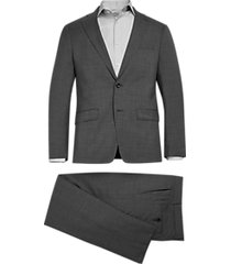 michael kors slim fit suit gray