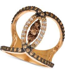 le vian nude palette diamond venn ring (1 ct. t.w.) in 14k rose gold