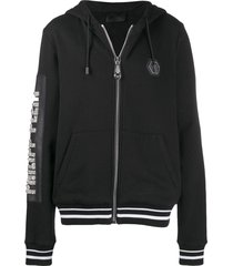 philipp plein cowboy zipped hoodie - black