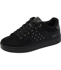 zapatillas mujer deportivas enrico coveri lollo nylon naplack negro