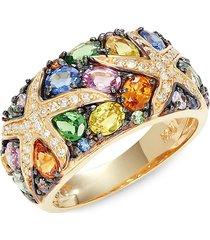 effy women's 14k yellow gold & multi-stone ring/size 7 - size 7