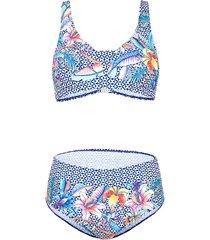 bikini maritim blauw/wit