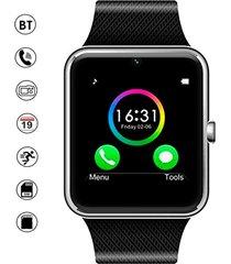 smartwatch reloj inteligente gt08 android plateado