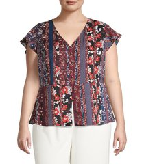 sanctuary women's over the moon short-sleeve top - size 3x (22-24)