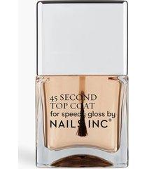 nails inc treatment 45 second top coat, clear