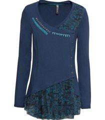 maglia lunga (blu) - rainbow