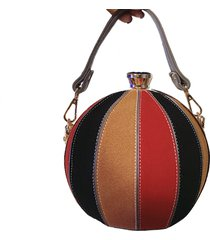 new womens hit color scrub pu leather handbags diamond buckle small ball clutch