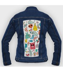 kurtka jeansowa bazgroły