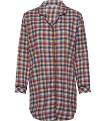 cotton flannel nightshirt pyjamas röd lady avenue
