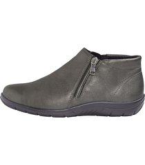 skor med dragkedjor naturläufer grå