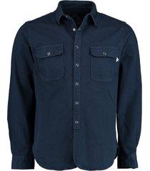 bos bright blue pascal denim shirt 21107pa20sc/290 navy