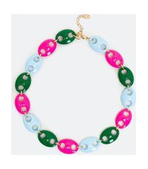 colar curto com elos coloridos | accessories | multicores | u