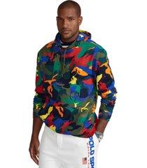 polo ralph lauren men's big & tall polo pony camo double-knit hoodie