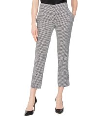kasper petite circle jacquard slim ankle pants