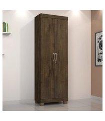 armário multiuso com chave 2 portas cacau mucuri jcm movelaria