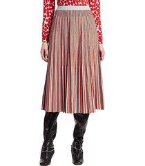 jacquard knit striped skirt