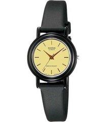 reloj analógico mujer casio lq-139e-9a - negro con beige