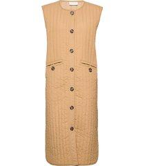 vitheasa s/l waistcoat vests padded vests brun vila