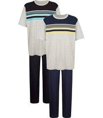 pyjama's per 2 stuks g gregory marine::zwart