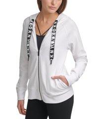 dkny sport logo zip hoodie