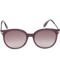 alexander mcqueen women's 54mm round sunglasses - pink