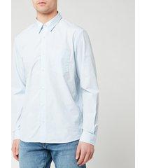 a.p.c. men's chemise barthelemy shirt - bleu clair - xxl