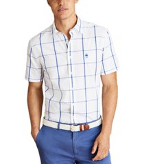brooks brothers men's striped cotton broadcloth shirt, created for macy's